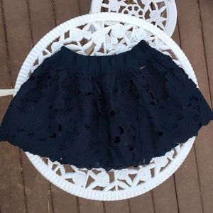 Abercrombie & Fitch Navy Floral Circle Skirt